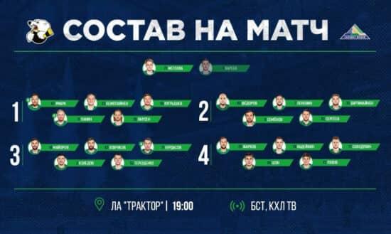 Панин вернулся в состав, Ткачев пропустит матч в Челябинске